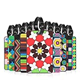 Luggage Tag, Bright Color Mosaic Pattern Durable Travel ID Holder (10 Pack)