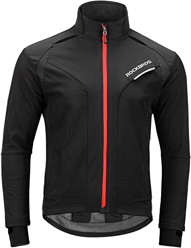Men Cycling Jersey Long Sleeve Windbreaker Hi-Viz Bike Jacket Wind Coat S-3XL