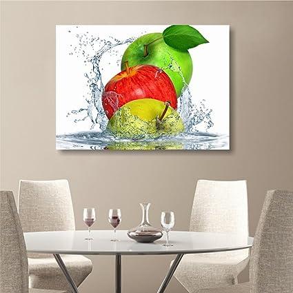 Quadri L&C ITALIA Apples fresh - quadro artigianale stampa su tela ...