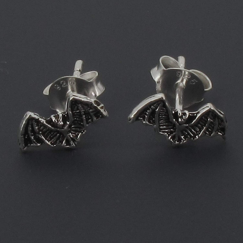 Boucles doreilles en argent sterling /à motif chauve-souris