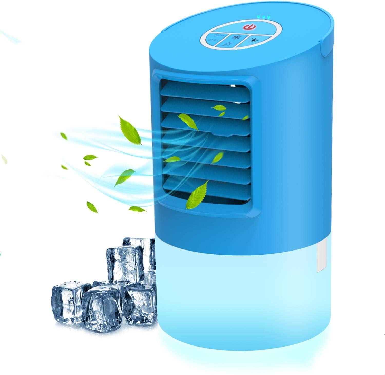 Ventilador de 3 velocidades para Oficina,hogar Enfriador de Aire 3 en 1 Humidificador Purificador Mini Aire Acondicionado Ventilador, Aire Acondicionado m/óvil kkcite Enfriador de Aire port/átil
