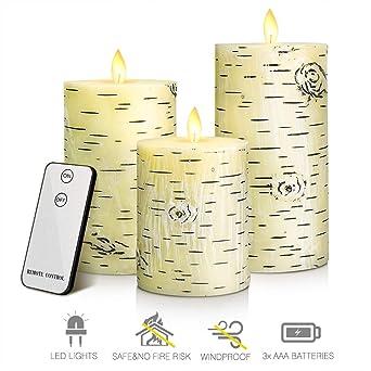 Manyo - Vela LED vintage, velas de té falsas sin llama, vela ...