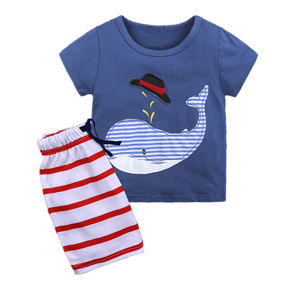 Shorts Mangka Baby Boys Summer Outfits Cartoon T-Shirts