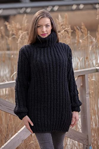 44d4b934bab Amazon.com  Black ribbed Sweater