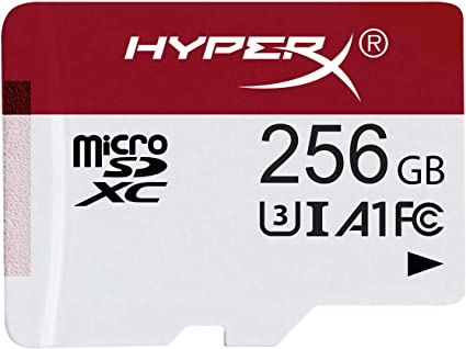 HyperX HXSDC/256GB microSDXC Gaming 100R/80W U3 UHS-I A1 Card Only