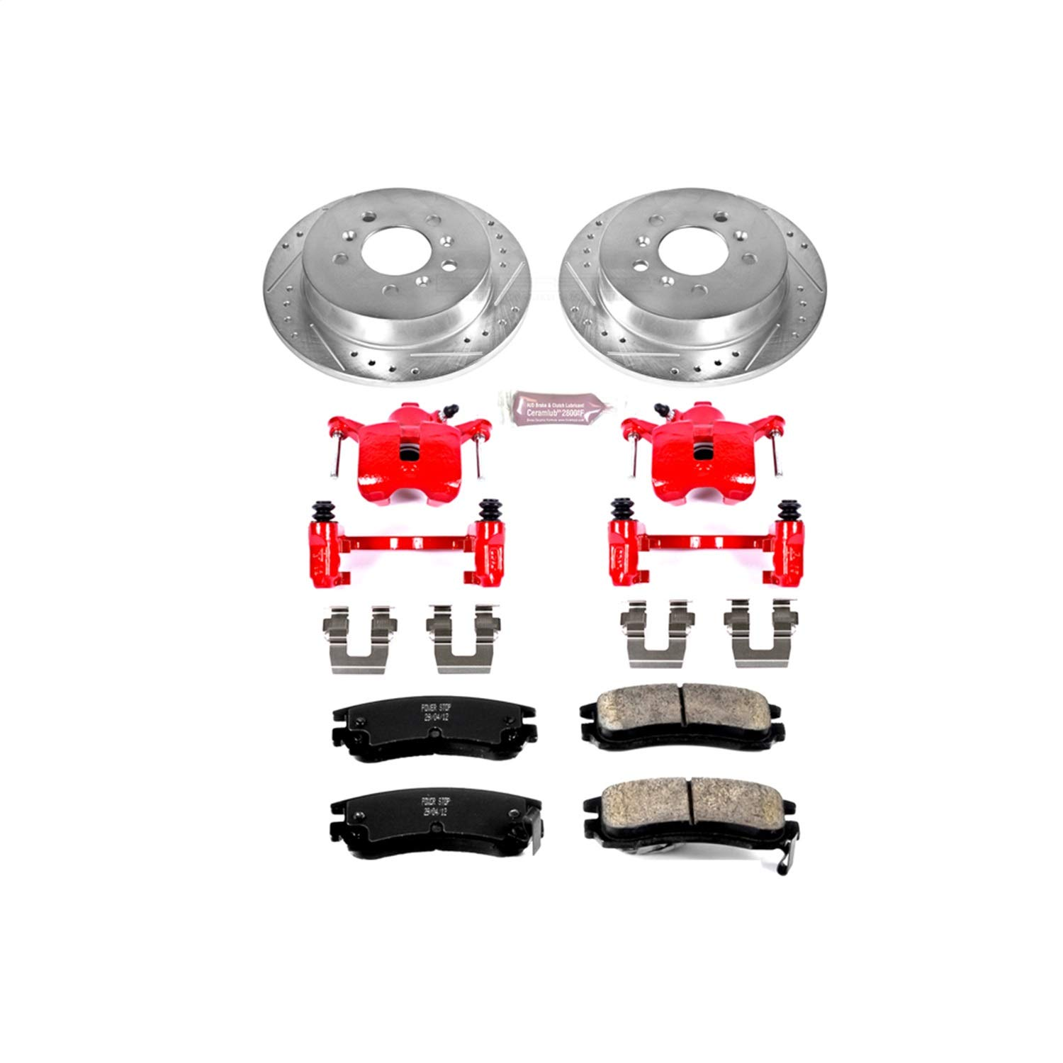 Power Stop KC1440 1-Click Performance Brake Kit with Calipers Rear Only