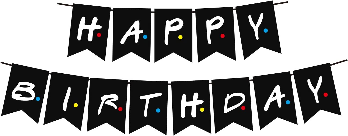 Friends Tv Show Happy Birthday Party Banner Friends Theme Party Banner Ideal Fo