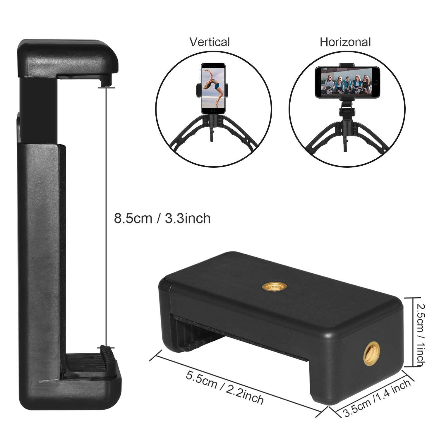 Sunvook Bluetooth Selfie Stick Tripod, Cell Phone Tripod, Camera Tripod, Mini lightweight Travel Tripod with Bluetooth Remote 2 in 1 Pistol Grip Suitable for IOS Andriod Phones iPhone Samsung etc
