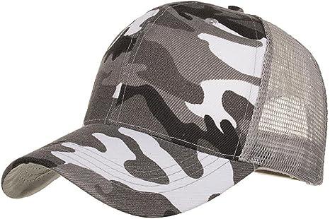 LMMVP Sombrero Sombreros de Malla de Verano Gorro de Camuflaje ...