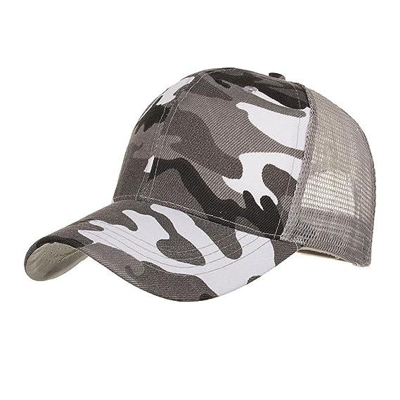 LMMVP Sombrero Sombreros de Malla de Verano Gorro de Camuflaje para Hombres Mujeres Casual Sombreros de Hip Hop Béisbol Gorras (B): Amazon.es: Deportes y ...