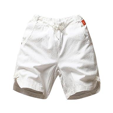 Pantalons Pantalon Vtops pour Outdoor Décontractés Coton Lin Shorts et Shorts Lâches en Hommes Eté Homme FqIwZCxn6t