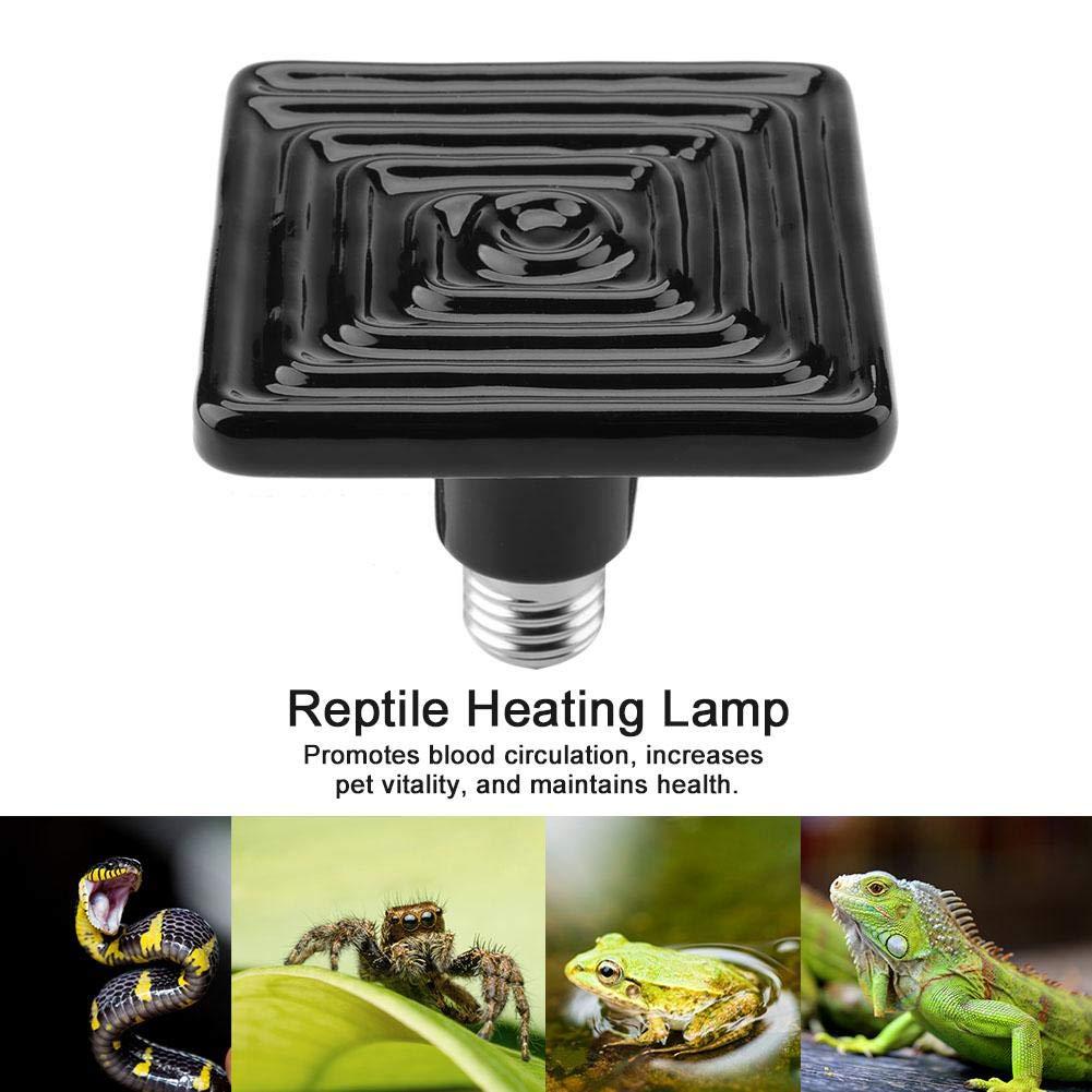 terrario incubatore Lampada di Calore per rettili 220 V-230 V emettitore Lampada a infrarossi in Ceramica Pssopp Lampada per rettili per Animali da Compagnia