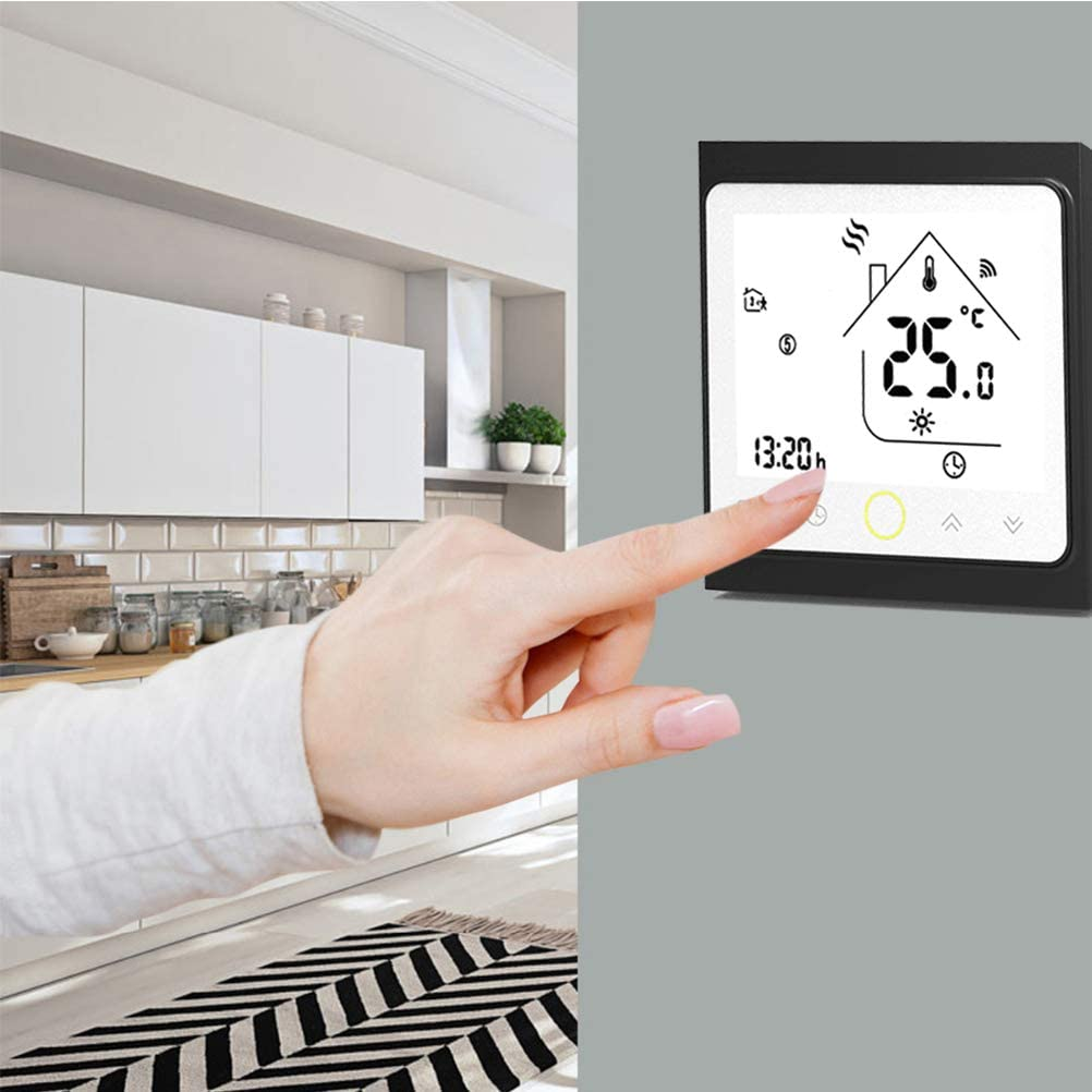 16A 95~220V AC Qiumi Smart WiFi Thermostat Temperature Controller for Floor Heating Electric Work with  Alexa Google Home IFTTT
