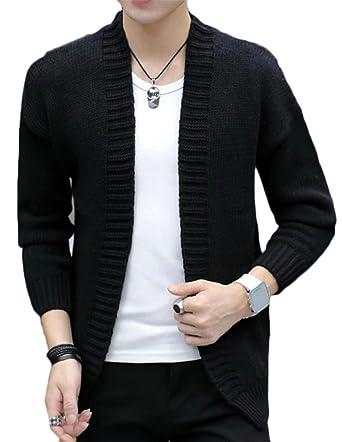 XTX Men's Casual Sweaters Long Sleeve Coat Solid Color Vogue