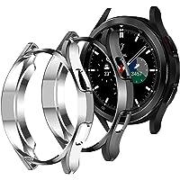 Diruite Fodral till Samsung Galaxy Watch 4 Classic 46 mm skärmskydd fodral, flexibelt TPU fullständigt skydd skärmskydd…