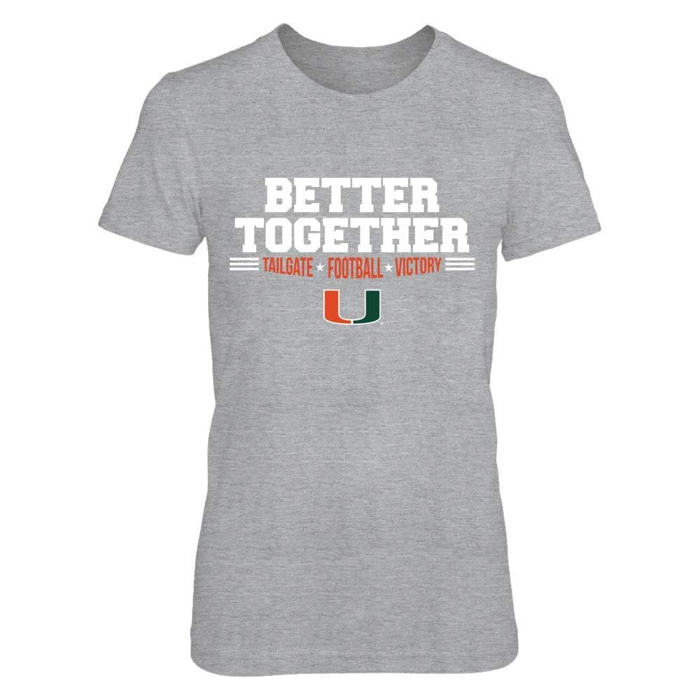 Tank FanPrint Miami Hurricanes T-Shirt Better Together T-Shirt