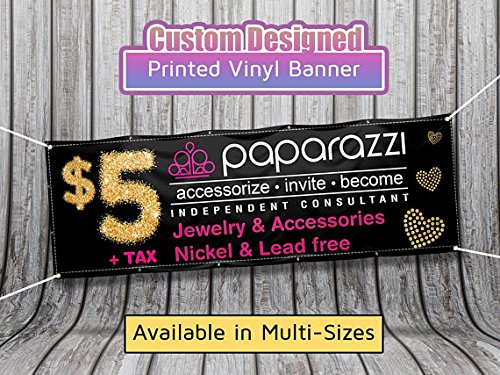 2ft x 6ft Paparazzi Banner - Paparazzi Banner Sign for your Boutique, Popup Party, and Facebook Live Event. MansiPrintShop.com Inc