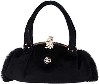 Fawziya Peacock Purses And Handbags On Clearance Fur Bags For Women