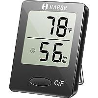 Habor Igrometro Termometro Digitale Termoigrometro LCD con l'Icona di comforto Misura Temperatura(0,0 ℃ ~ 50,0 ℃) & umidità(20 da% a 95%) per Interno, Serra, Stanza, Casa