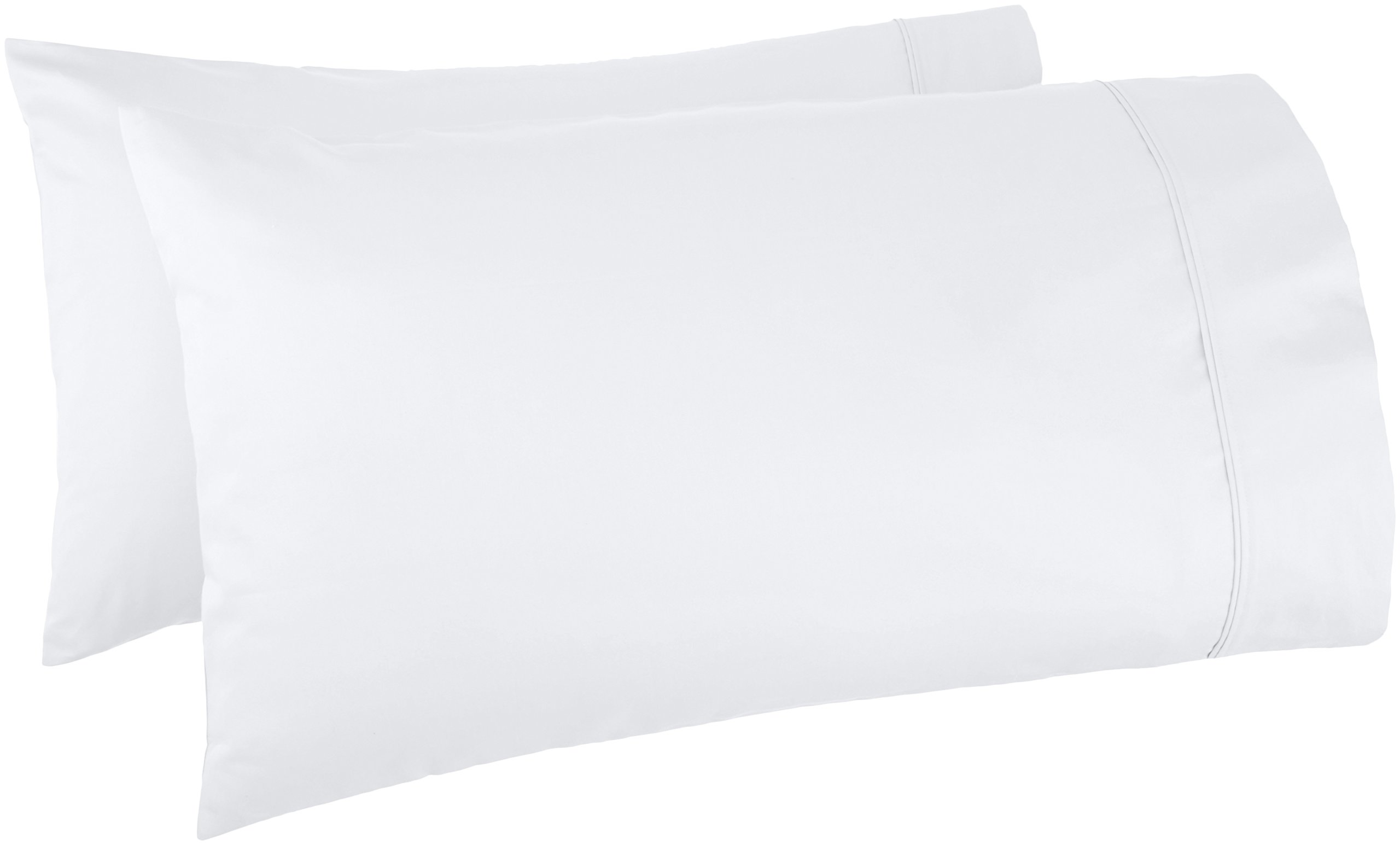 AmazonBasics 400 Thread Count Pillow Cases - Standard, Set of 2, White by AmazonBasics