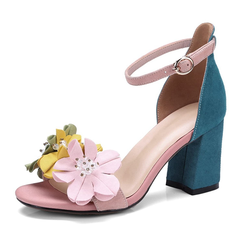 Amazon Womens Sandals Elegant Flower High Heels Open Toe White