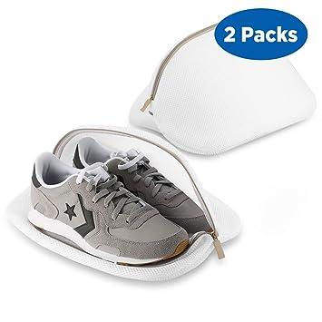 Ecooe 2 borse per scarpe in rete per lavanderia. Per scarpe da ginnastica, utilizzabile anche per il trasporto durante viaggi