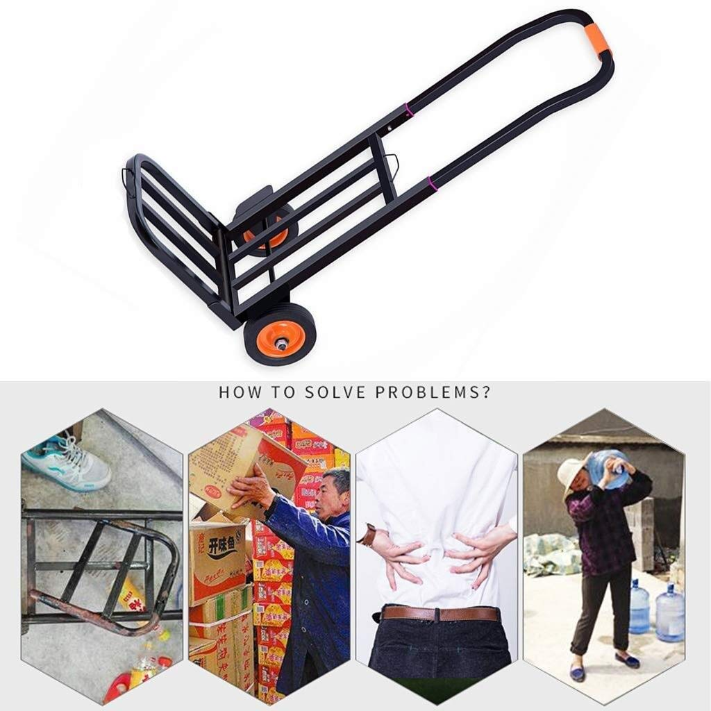Climb Stairs Hand Truck Hand Push Vehicle Transport Trolley Folding Freight LQQFFGarden Trolley Flat Trolley