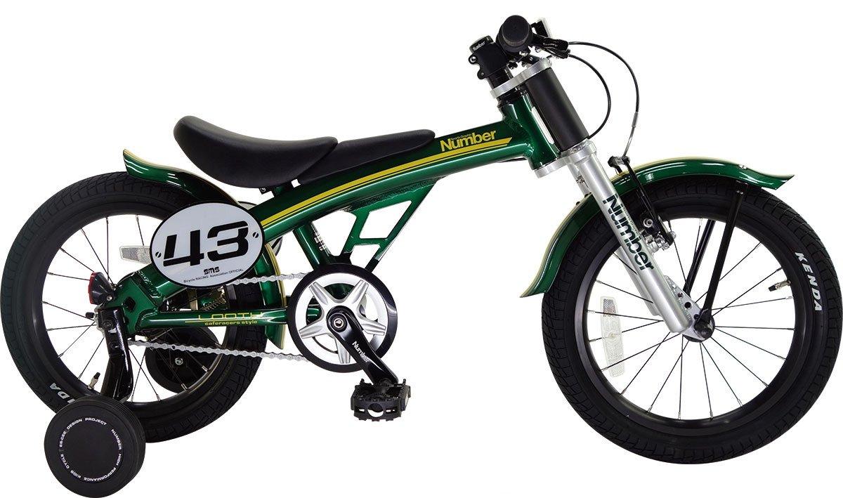 Number Bicycle(ナンバー バイシクル) LOOTH 16インチ アルミフレーム 幼児用自転車 B06XNQN7Z3 ブリティッシュグリーン ブリティッシュグリーン