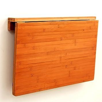 ZJM-table Mesa de Pared de bambú para Mesa de Cocina, Comedor ...