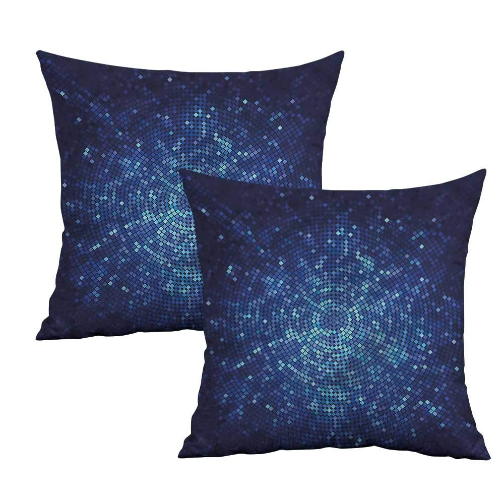 Amazon.com: Khaki home Blue Square Pillowcase Protector ...