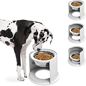 LIDLOK Elevated Dog Bowls Dog Food Bowl Stainless Steel Bowls with Non-Skid Raised Stand Dog Feeder Bowl Dog Dishes for Large Dogs(1.8L)