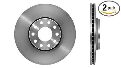 Amazon com: Detroit Axle - Pair (2) 321mm Front Disc Brake Rotors
