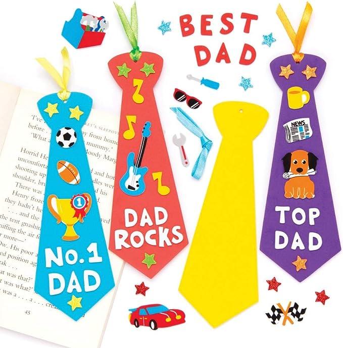 Baker Ross- Kits de marcapáginas en forma de corbata para el Día ...