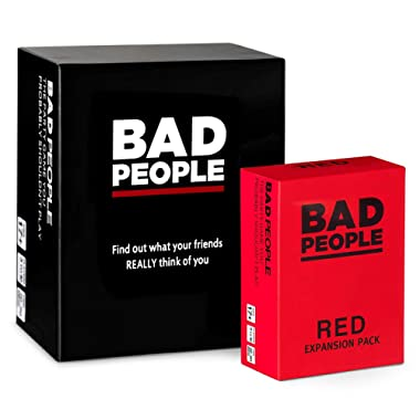 BAD PEOPLE - The Party Game You Probably Shouldn't Play + The RED Expansion Pack