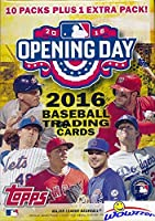 2016 Topps Opening Day MLB Baseball Factory Sealed Retail Box with 11 Packs & 77 Cards! Includes 1 Insert in EVERY PACK! Look for Autographs, Relics, Printing Plates & Parallel Cards! Loaded! WOWZZER!
