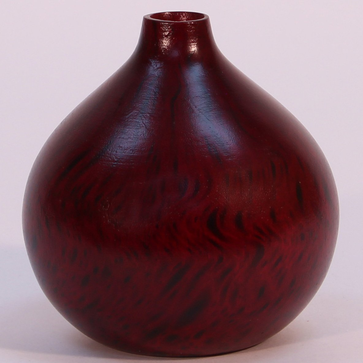 Green Floral Crafts Mango Wood Large (7'' diameter) Onion Vase - Cherry