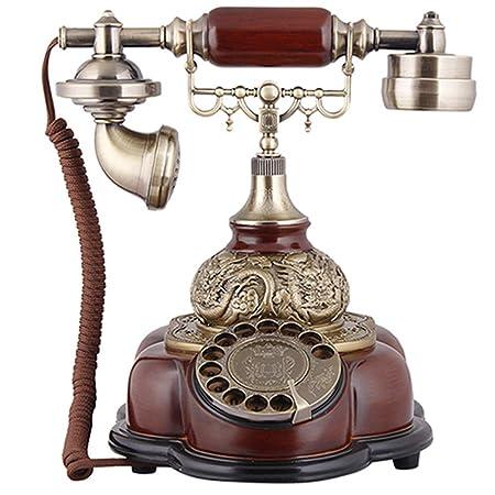 BHXUD Teléfono Vintage, Teléfono Antiguo Vintage, Tocadiscos ...
