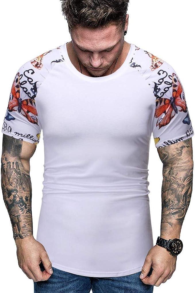 Vectry Hombre Nuevo Verano Moda Impreso Manga Corta Camiseta ...