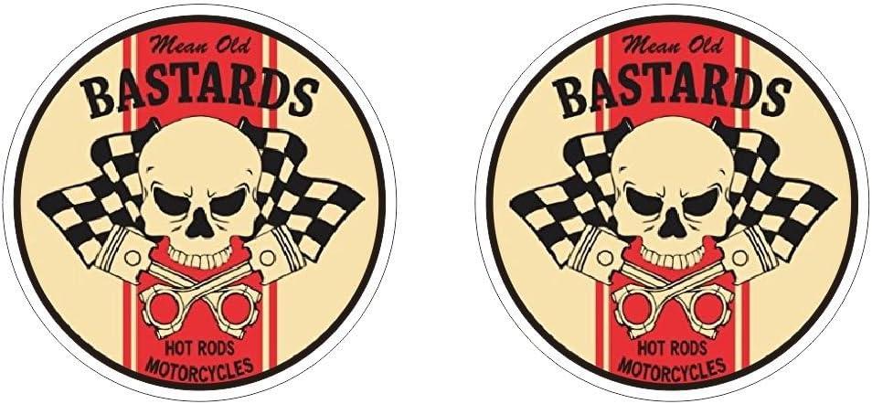 Mean Old Bastard Aufkleber Oldschool Vintage Hotrods Rat Rod Sticker Plus Schlüsselringanhänger Aus Kokosnuss Schale Auto Motorrad Laptop Tuning Motorsport Ken Block Gymkhana Hoonigan Auto