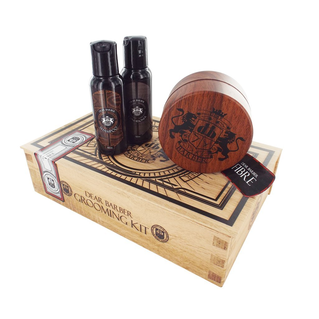 Dear Barber Fibre Shaper Men's Hair Care Collection, Fibre Shaper 100ml, Shampoo 50ml & Conditioner 50ml 5014147001412
