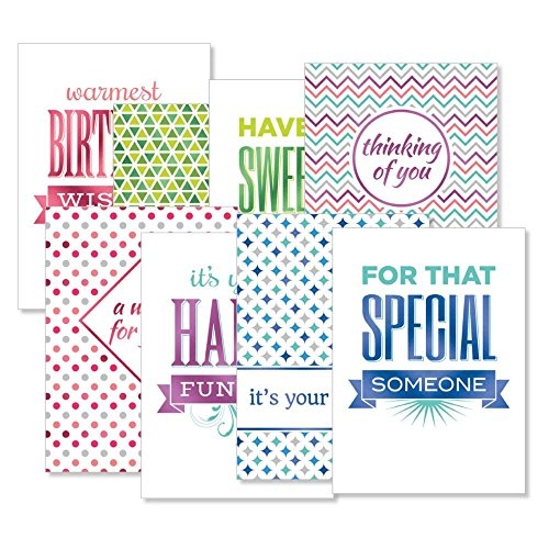 Deluxe Mixed Copy Foil Birthday Card Value Pack Set Of 16