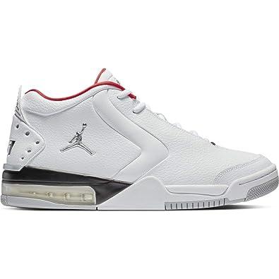 48e4db7af82 Jordan BV6273-100  Men s Air Big Fund White Metallic Silver-Black Sneaker