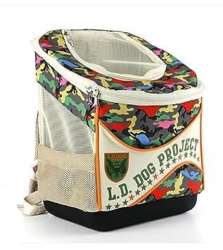 LOHUA Portador/Cochecito del Animal doméstico 2 in-1, Mochila Plegable Desmontable para los Gatos y los Perros, B: Amazon.es: Deportes y aire libre