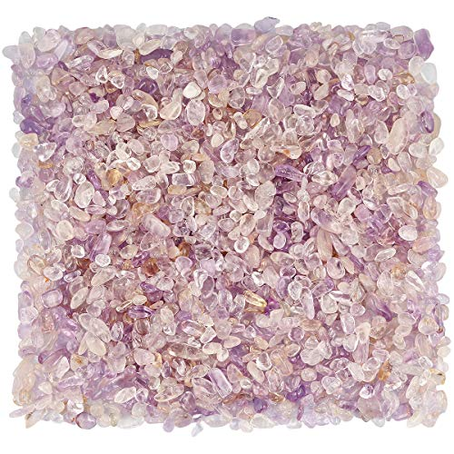 AITELEI 1 lb Natural Amethyst Crystal Crushed Stone Healing Reiki Crystal Irregular Shaped Stones Jewelry Making Home Decoration