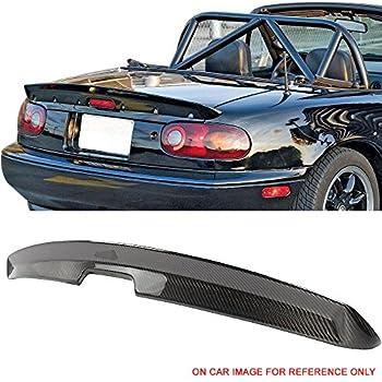 Trunk Spoiler Fits 1990-1997 Mazda Miata MX5 | MK1 KG Works Style Carbon Fiber CF Rear Wing by IKON MOTORSPORTS | 1991 1992 1993 1994 1995 1996