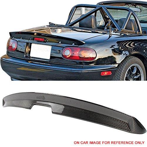 Trunk Spoiler Fits 1990-1997 Mazda Miata MX5 | MK1 KG Works Style Carbon Fiber CF Rear Wing by IKON MOTORSPORTS | 1991 1992 1993 1994 1995 1996 (Mazda Miata Trunk)