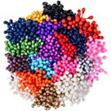 DECORA 16 Colors 1360 Pieces Mixed 3mm Pearl Flower Stamens for Decoration (Classic)
