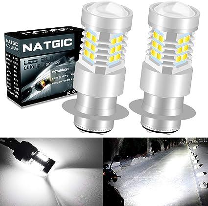 NATGIC P15D H6M Bombillas de luz antiniebla led Xenon White 21 ...