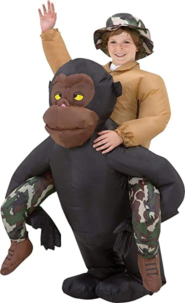 d774eb805 Amazon.com: Gemmy - Riding Gorilla Kids Inflatable - 12-14: Toys & Games