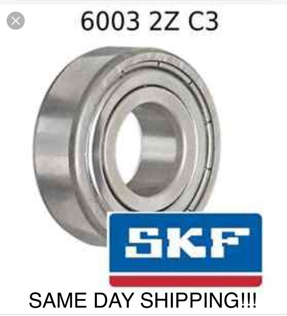 6003-ZZ metal shields 6003Z bearing 6003 2Z ball bearings 6003 ZZ Qty. 10